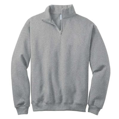 Grey Zip Up Sweatshirt For Men