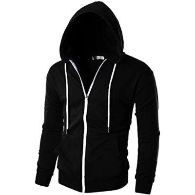 Buy quality Mens Slim Fit Long Sleeve Lightweight Zip-up Hoodie ,direct from manufacturer. Feel free to send your own designs for Further Details