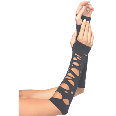 Women's Distressed Arm Warmers