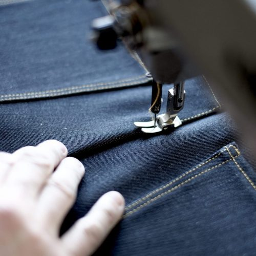jeans cutting
